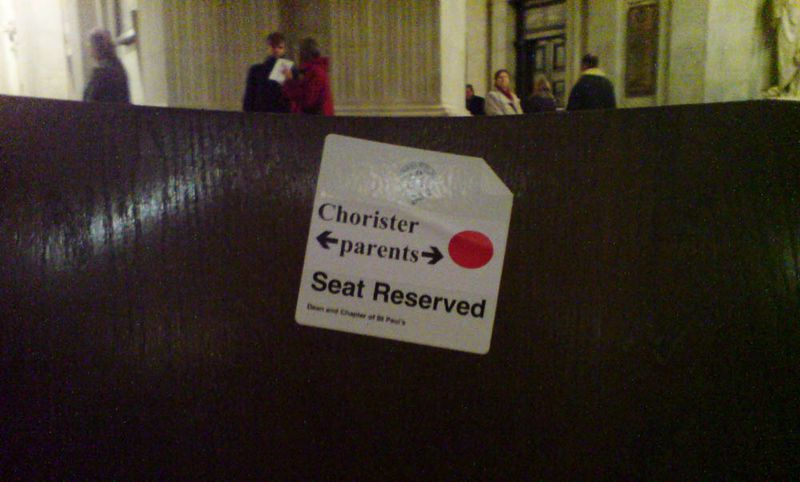 Seat reserved